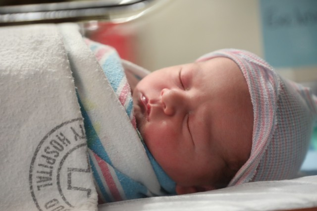 Hudson arrived at 7:48 p.m. on Jan. 1 weighing 8lbs 6 ounces and 21 inches tall.  Hudson is the second boy to Capt. Victoria McMullan and Capt. Ryan McMullan.