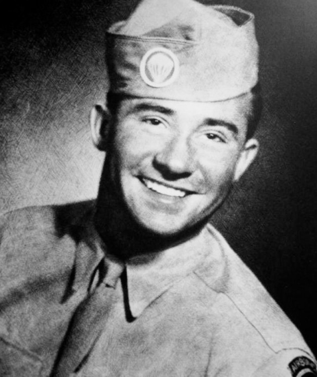 Army Staff Sgt. Isadore Jachman, who received a Medal of Honor posthumously, poses for a photograph in his uniform.