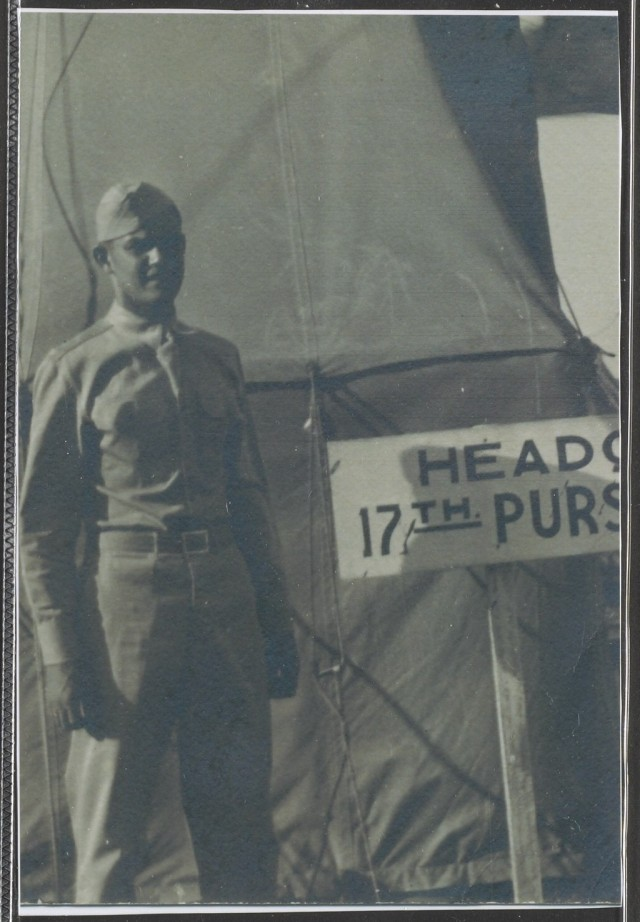 Dan Crowley stands outside his headquarters in the Philippines in 1941.