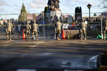 Washington National Guard provides security to State Capitol following unrest