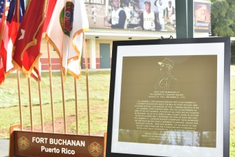 USAG Fort Buchanan dedicates state-of-the-art physical fitness facility in honor of Puerto Rico's baseball legend Roberto Clemente