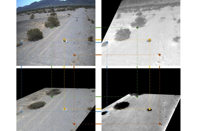 Army researchers develop and transition technologies that provide Soldiers with explosive hazard indicators from safe standoff using unaltered sensor imagery and UAS platform thermal imagery.