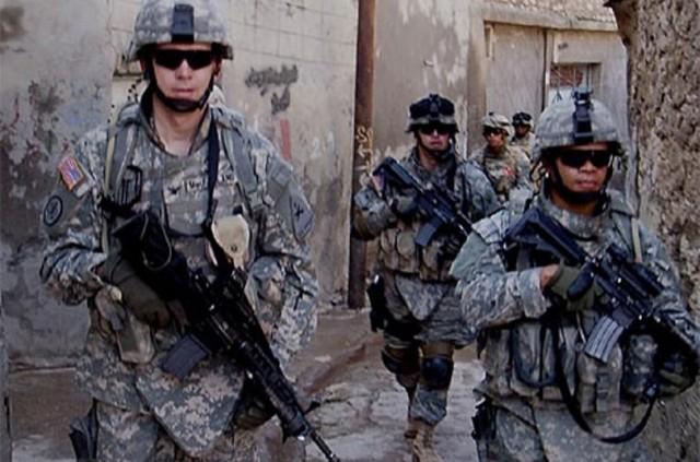 Then-Maj. Okera Anyabwile, right, while on a deployment in Ramadi, Iraq, in 2006.