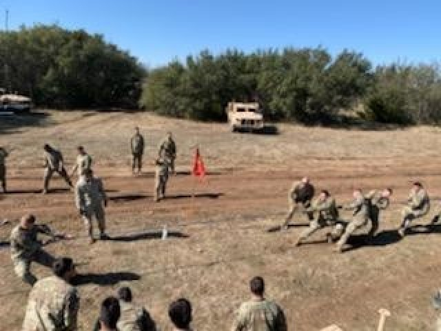 Troopers with 2nd Battalion, 82nd Field Artillery Regiment, 3rd Armored Brigade Combat Team, 1st Cavalry Division, incorporate Operation People First Training into an eight-day long artillery field training exercise, Fort Hood, Texas, Jan. 18, 2021. (Courtesy Photo)