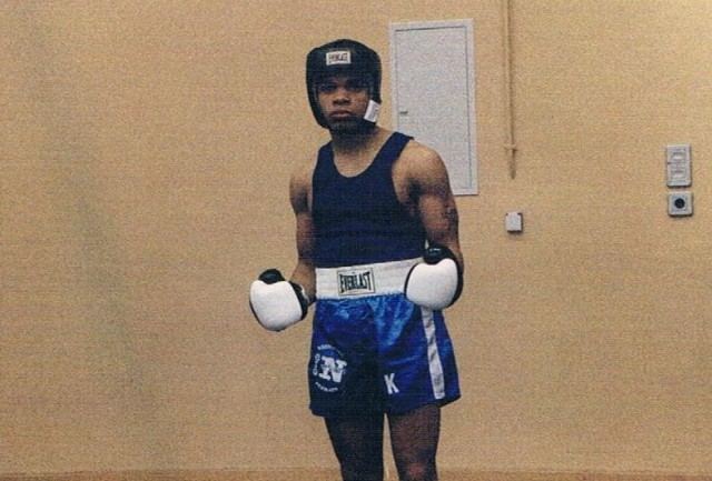Okera Anyabwile as an Army boxer in 1988. Anyabwile is now a colonel and serves as the director of the Strategic Simulations Division at the U.S. Army War College.