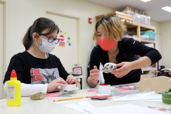 Camp Zama Arts and Crafts patrons learn about Japanese culture with craft project