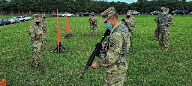 Soldiers assigned to Headquarters and Headquarters Company, 311th Signal Command (Theater) conducted a Battle Assembly, Jan. 23-24, 2021, to train on Army Warrior Tasks at Schofield Barracks on Oahu, Hawaii (Official U.S. Army photo by Marc Ayalin).