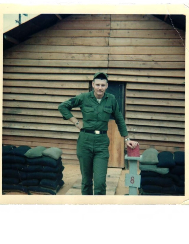Rob Gibbens when he was stationed in Cam Ranh Bay Vietnam with the 63rd Transportation Company in 1966-1967.