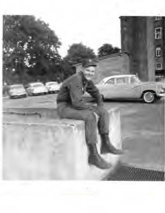 Ron Gibbens in Mannheim, Germany while he was with the 41st Transportation Company in 1961-1964