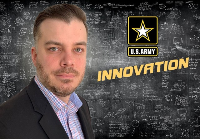 Army researcher Michael Golt receives the Maj. Gen. Harold J. Greene Award for Innovation.