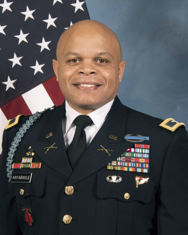 Col. Okera Anyabwile, director of the Strategic Simulations Division at the U.S. Army War College, was promoted to colonel on Jan. 8, 2021.