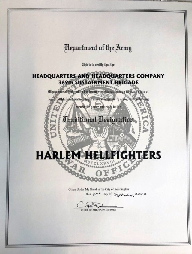 After 100 years the Harlem Hellfighters nickname is finally official