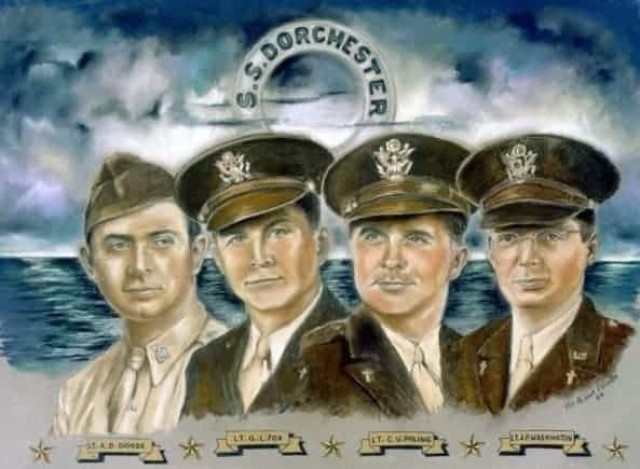 Four Chaplains who sacrificed their lives during World War II.