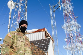 KFOR conducts radio tower maintenance