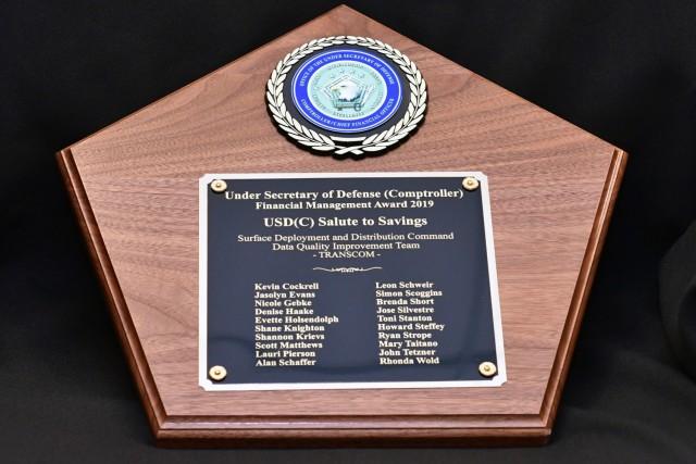 SDDC, USTRANSCOM financial team named 2019 DoD fiscal management award winners