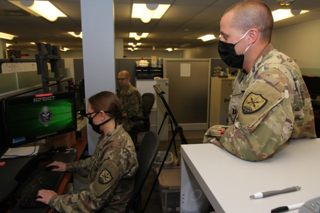 FORT GEORGE G. MEADE, Md. -- Army National Guard Soldiers from the 124th Cyber Protection Battalion are deployed as part of Task Force Echo IV in support U.S. Cyber Command.