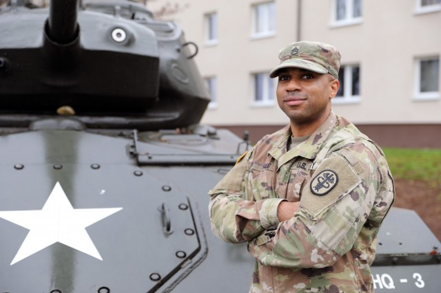 Staff Sgt. Donald Walls Jr., a medical laboratory specialist by trade, is currently serving as the Headquarters and Headquarters Detachment sergeant for Regional Health Command Europe.