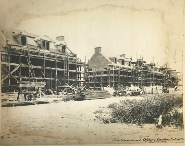 NCO quarters under construction