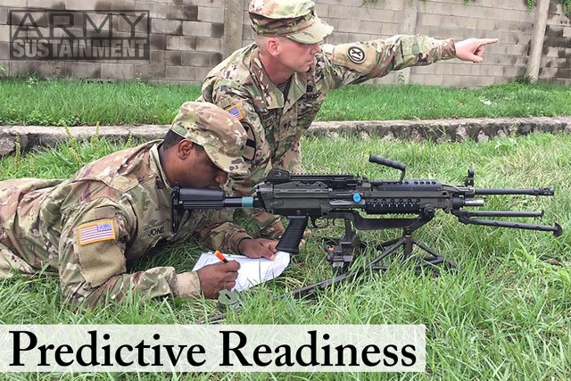 Soldiers from the 658th Regional Support Group, a Army Reserve unit stationed at U.S. Army Garrison Yongsan, in Seoul, conduct training on fields of fire and how to make a sector of fire sketches during a exercise in May 2017.