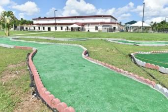 USAG Fort Buchanan DFMWR Child Youth Service has a Miniature 9-Hole Golf Course