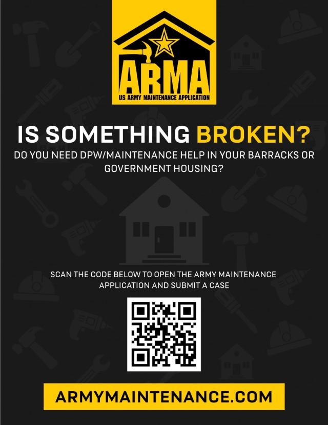 ArMA: Army Maintenance Application
