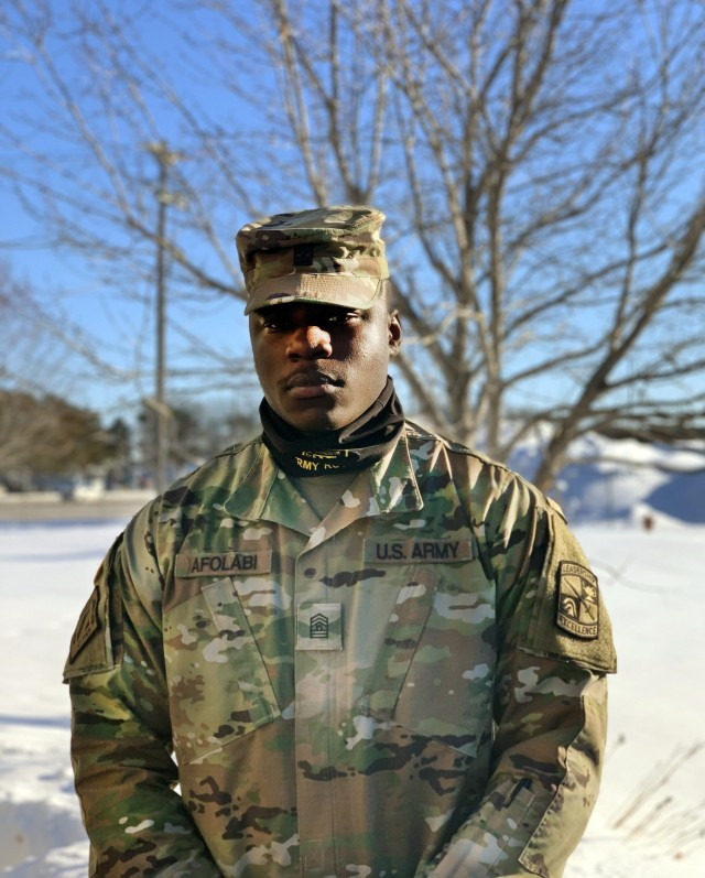 Cadet Oyebiyi Afolabi is currently a senior at Saint Thomas University in Saint Paul, Minnesota, and an ROTC Cadet through the University of Minnesota, but he began his life in the west African country of Togo. He moved tot he United States in 2016 to pursue education and education, which lead him to joining Army ROTC.