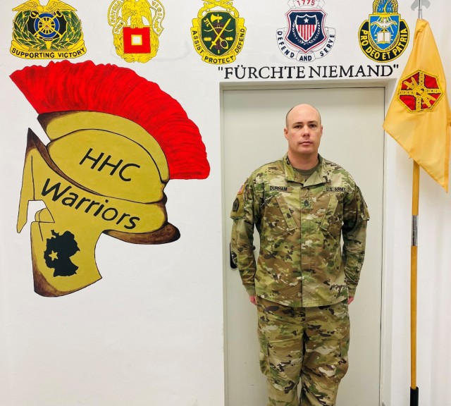 Sgt. 1st Class Gary Durham has been selected the NCO of the Quarter for Installation Management Command Europe, First Quarter fiscal year 21.