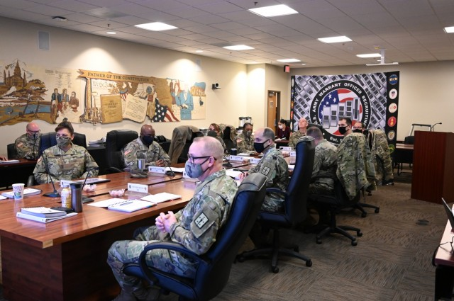 The Combined Arms Support Command conducted its annual Senior Sustainment Warrant Officer Forum Feb. 4 at the organization's headquarters in Fort Lee, Virginia. The purpose of the day-long forum, where over 160 attendees joined in virtually, was to support leader development, cultivate shared understanding of best practices across commands, synchronize initiatives and promote dialogue within the community.