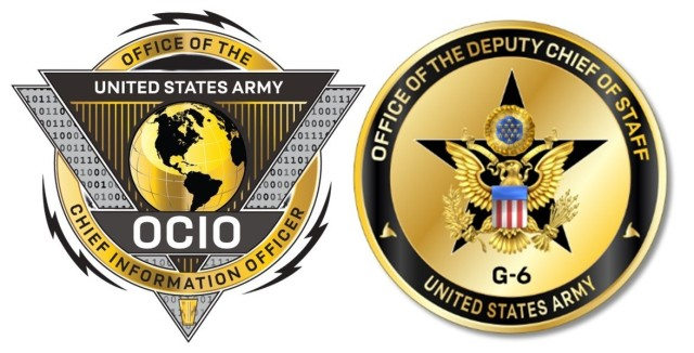 U.S. Army Chief Information Officer and Deputy Chief of Staff, G-6 logos