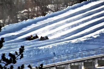 January 2021 snowtubing fun at Whitetail Ridge Ski Area at Fort McCoy