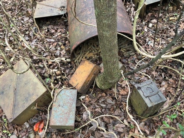 Some of the unexploded ordinance found by a hunter in Area 3B South.