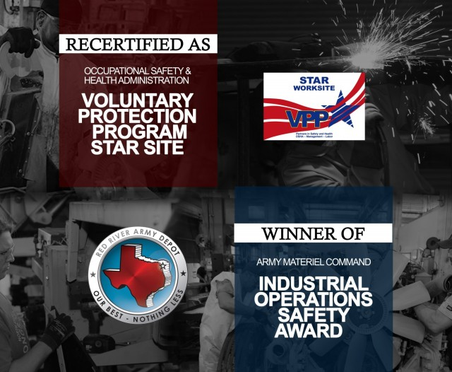 s winner of the FY2020 AMC Industrial Operations Safety Award, Red River Army Depot has consistently reduced accident rates for the last seven years. The depot was first named a VPP Star site in 2016.