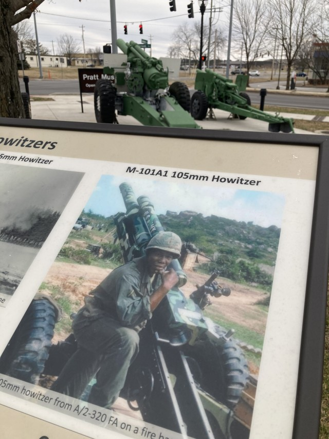 Howitzers used by 101st Airborne Division are on display at the Gen. Don F. Pratt Memorial Museum at Fort Campbell, including a 155 mm howitzer, (top center), like the one used by the 333rd Field Artillery Battalion and 969th Artillery Battalion, made up of Black Soldiers during World War II.