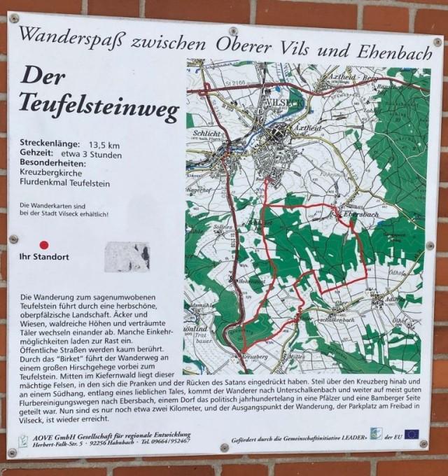 Der Teufelsteinweg Trail Map