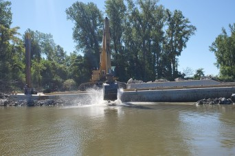 Kansas City Corps of Engineers updates Missouri River channel and river structure repairs