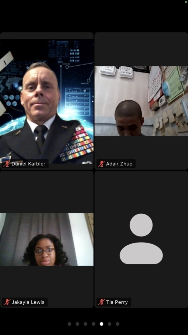 Lt. Gen. Daniel L. Karbler, commanding general of U.S. Army Space and Missile Defense Command, participates online as a mentor during the 2021 Black Engineer of the Year Awards Science, Technology, Engineering and Math Global Competitiveness Conference, Feb. 11-13, 2021. (U.S. Army graphic)