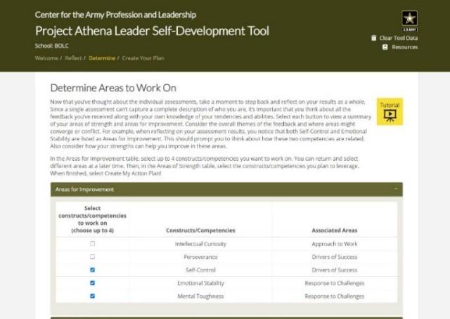 Step two Leader Self-Development Tool