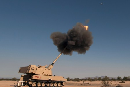 An Extended Range Cannon Artillery is tested at Yuma Proving Ground, Ariz., Nov. 18, 2018. The system is part of the Army's long-range precision fires portfolio. Army Chief of Staff Gen. James C. McConville said that the upcoming budget will continue to focus on modernization efforts, such as long-range precision fires, during a virtual discussion hosted by the Heritage Foundation Feb. 17, 2021.