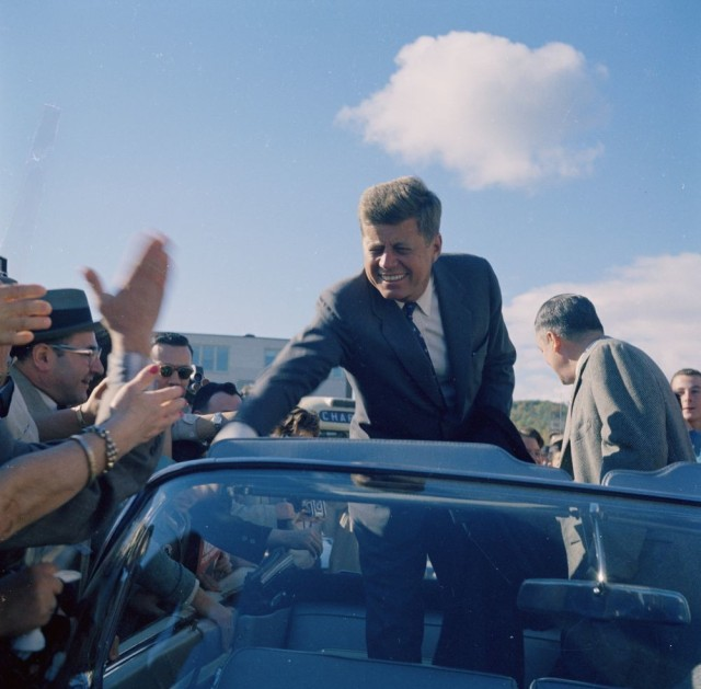 """President-elect John F. Kennedy wrote in his """"Sports Illustrated"""" magazine an article """"The Soft American"""" in December 1961: """"Thus, in a very real and immediate sense, our growing softness, our increasing lack of physical fitness, is a menace to our security."""" In early 1963, Kennedy revived President Theodore's direction for all Marine lieutenants and captains to complete 50 miles in less than 20 hours over no more than three days for his current Marines and challenged all Americans to consider it. (Photo by Sven Walnum. The Sven Walnum Photograph Collection. John F. Kennedy Presidential Library and Museum, Boston)"""