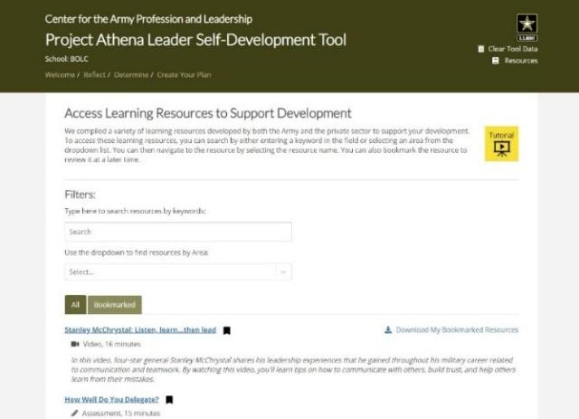Step four Leader Self-Development Tool