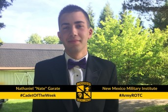 "Cadet of the Week: Nathaniel ""Nate"" Garate"