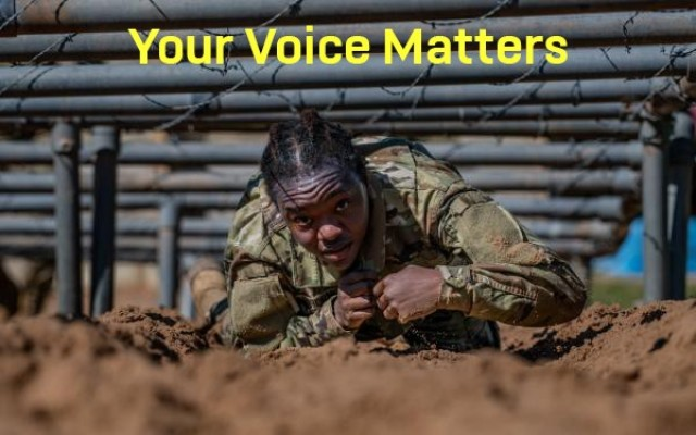 """""""Your Voice Matters"""" listening session graphic.  (U.S. Army Courtesy Graphic)"""