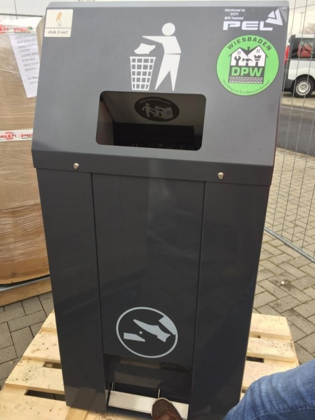 The new waste bins are compact and has a foot pedal so you don't need to touch the bin to place trash in it.