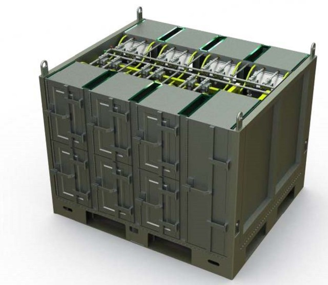The U.S. Navy is working with the Army and Air Force, funded by the National Defense Center for Energy and Environment, to demonstrate and validate a solution for transporting lithium-ion batteries on military aircraft. The project known as CLASSSIC or Charging-capable Li-ion Autonomous Safe Storage Interservice Container incorporates passive containment, sensors, and autonomous fire suppression.