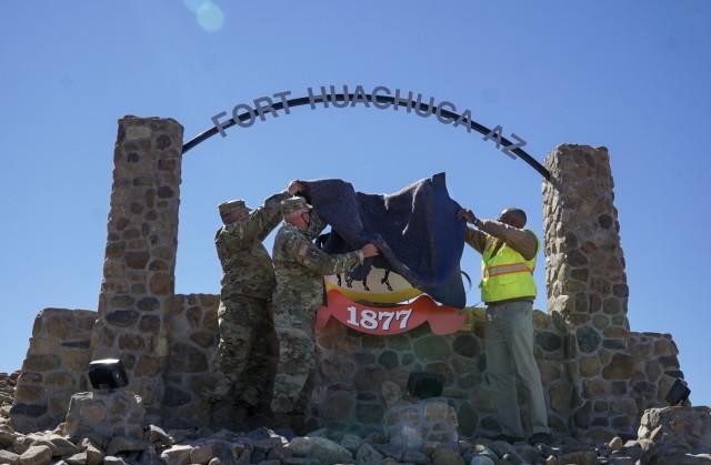 Garrison command team unveils new sign