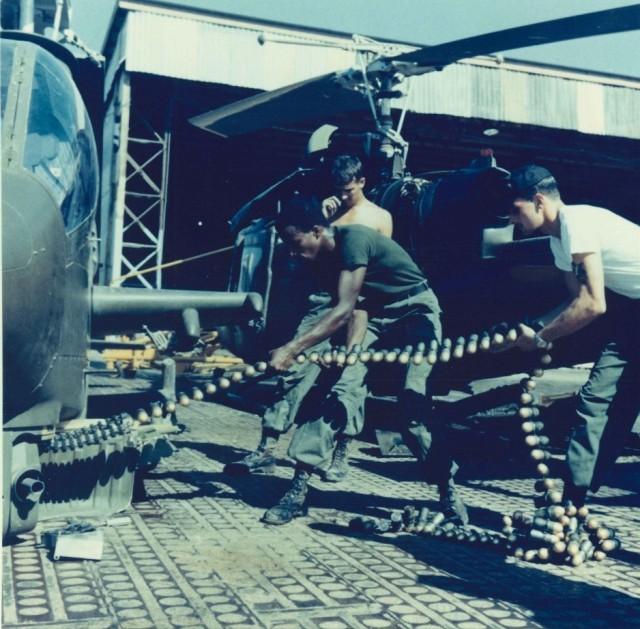 Soldiers handling 40mm grenades – Vietnam War