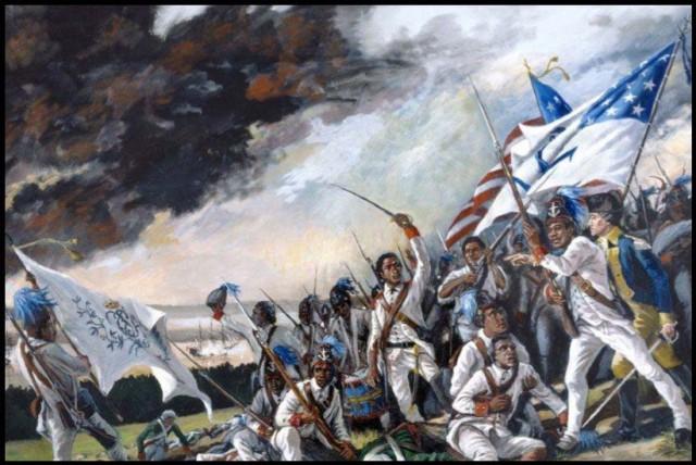 1st Rhode Island Regiment at the Battle of Rhode Island