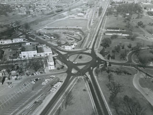 Aerial view of Stithton Circle circa 1960