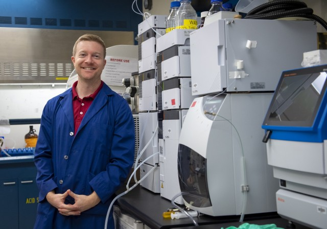Dr. Matthew Coppock, Army chemist and team leader, is part of team developing a new COVID-19 sensor.