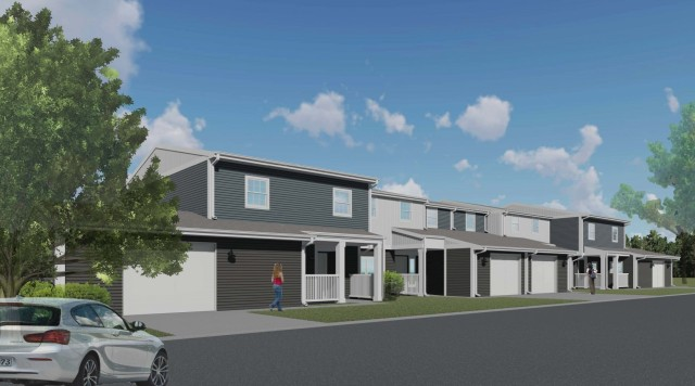 Conceptual exterior illustration of the renovations 170 New Hammond Heights homes will receive as part of the $87.4 million development project underway at Fort Campbell, Kentucky. Photo: Courtesy Lendlease